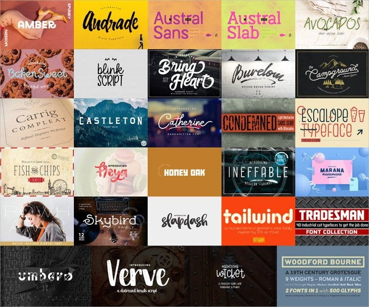 best fonts bundle11
