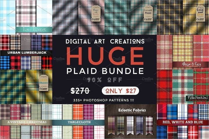 huge plaid patterns bundle1