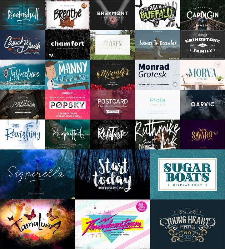 best fonts bundle2