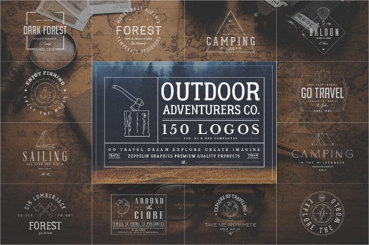 outdoor adventurous logo bundle11