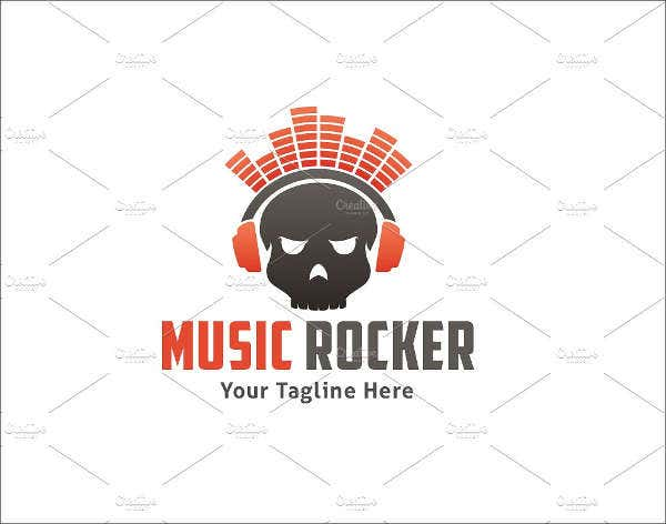 music-skull-record-logo
