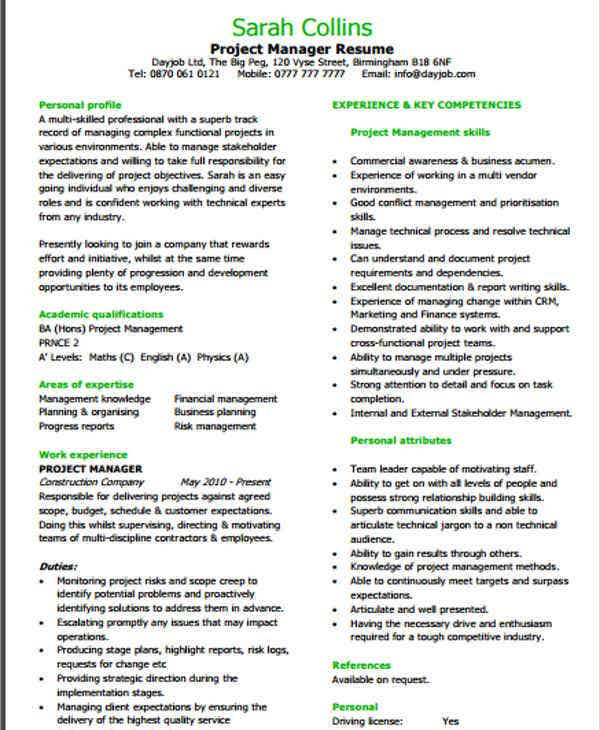 20  it resume templates in pdf