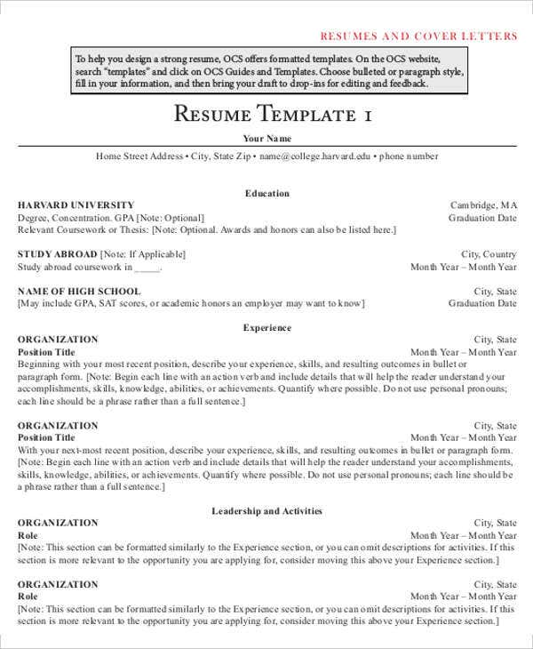 22+ Simple Business Resume Templates | Free & Premium Templates