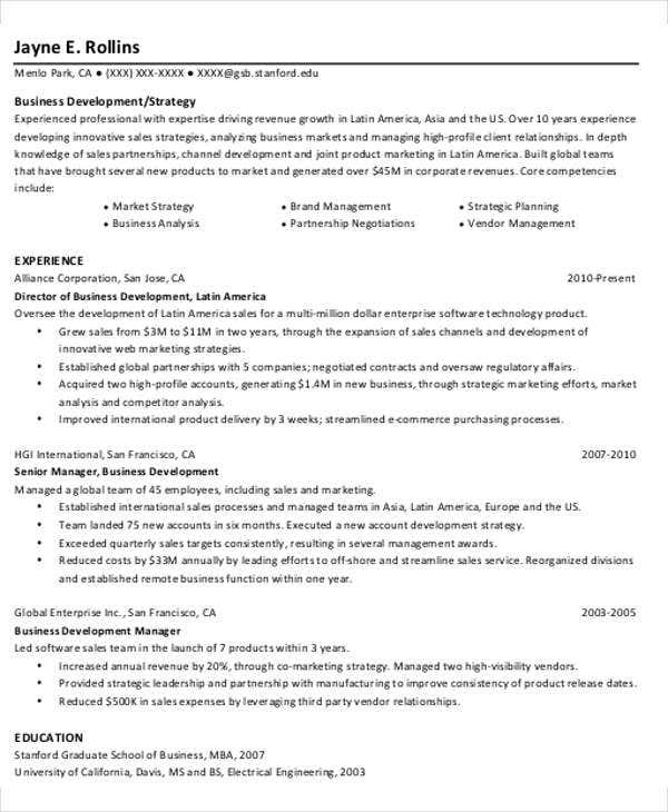 international business development resume1