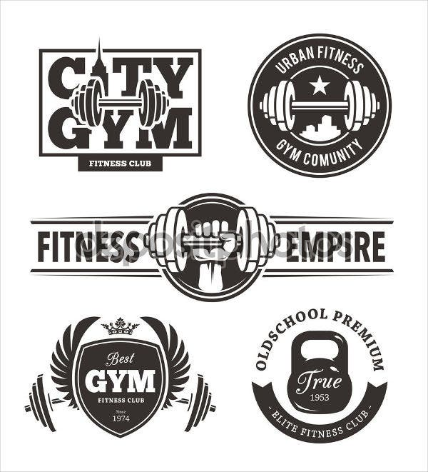 fitness and health equipment logo