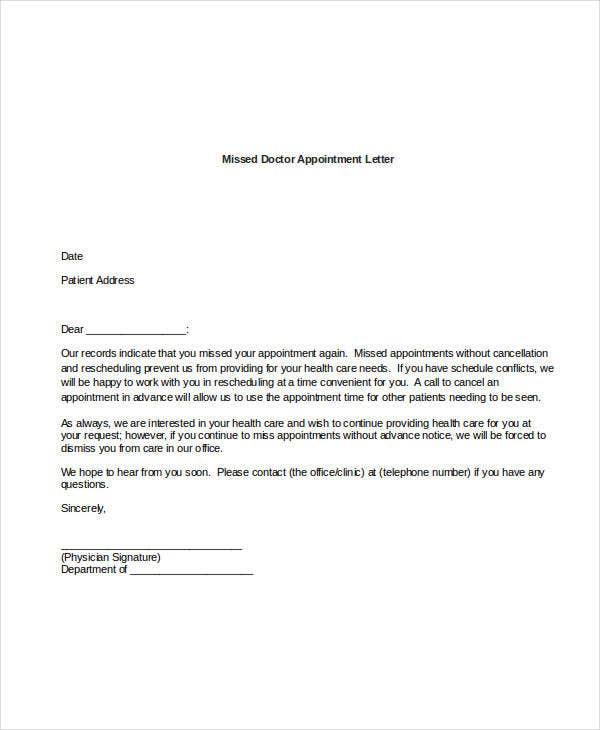 doctor appointment letter format. Black Bedroom Furniture Sets. Home Design Ideas