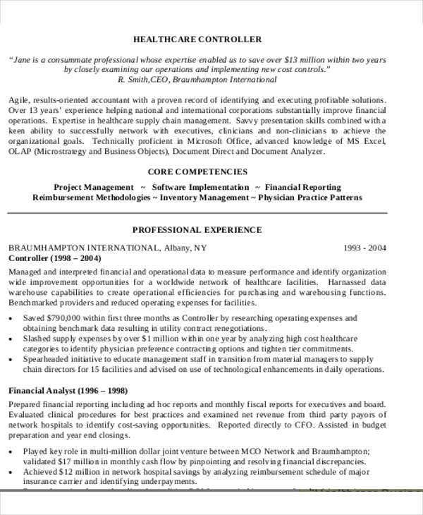healthcare business analyst resume3