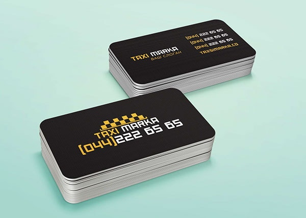 free taxi business card