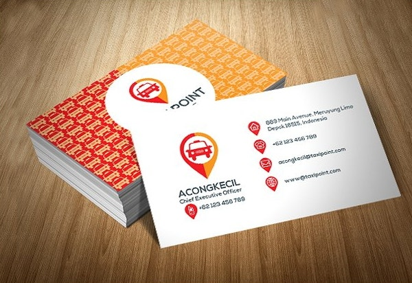 taxi point business card template