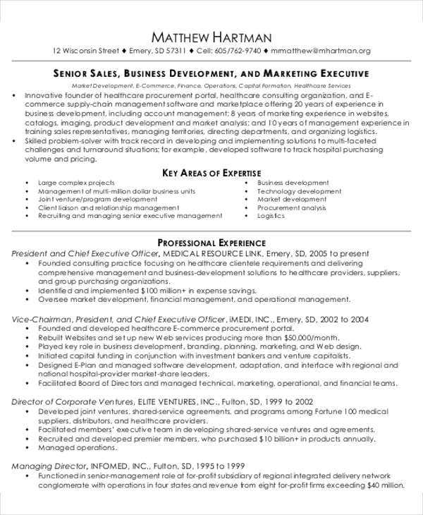 new business development resume