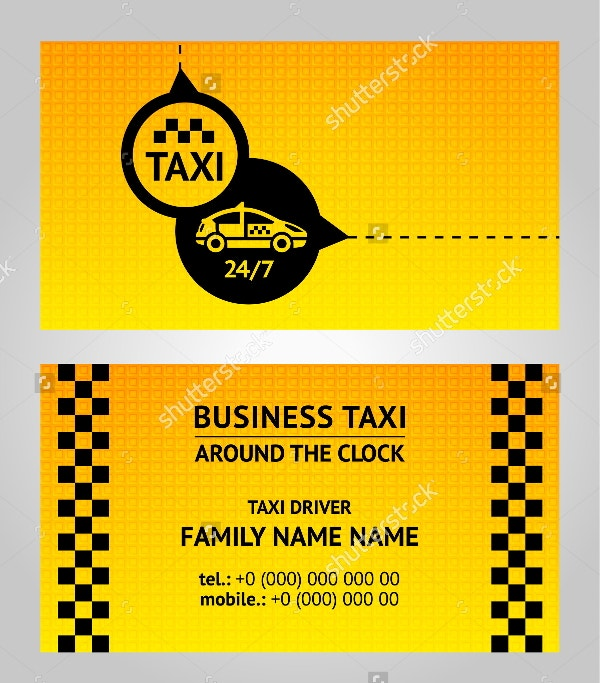 13 taxi business card templates ai pages word free