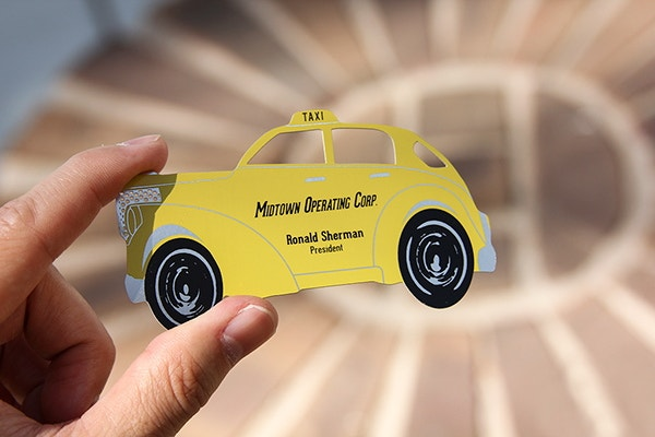 yellow-taxi-metal-business-card