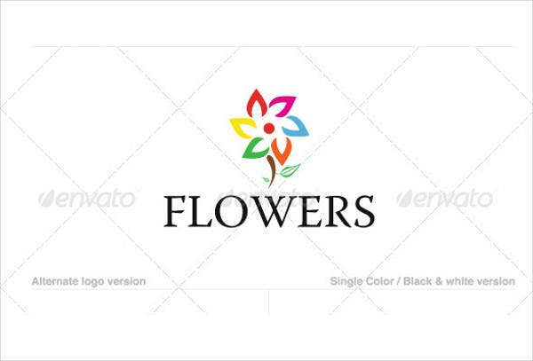 Flower Text Logo