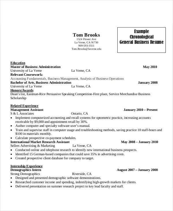 18  simple business resume templates