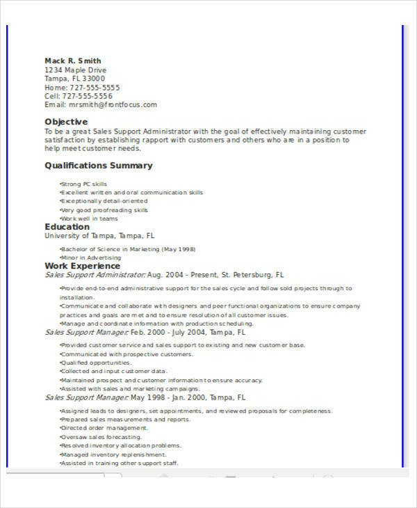 25 Basic Administration Resumes Free Premium Templates