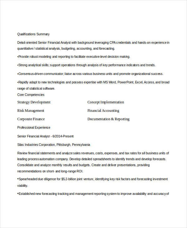 15  finance resume templates