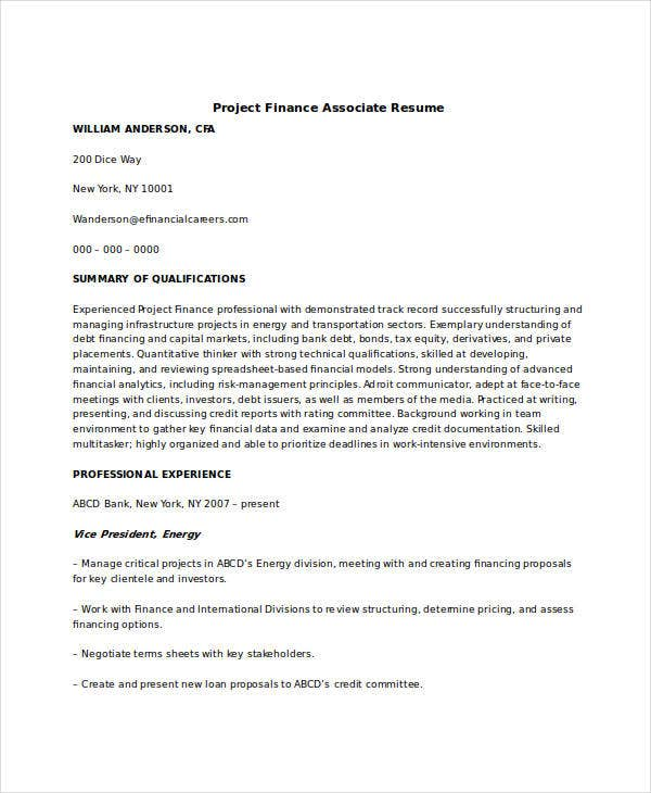 financial associate resume 28 images advisor resume
