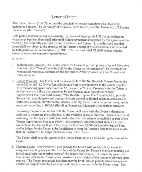 Letter of intent - Wikipedia