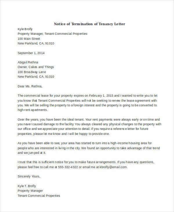 ... Termination Notice Template By 32 Termination Letter Exles Free Premium  Templates ...
