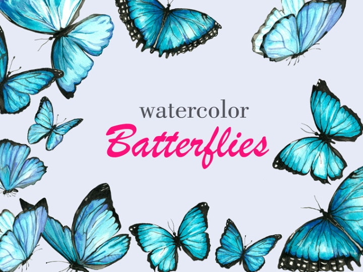 watercolor butterfly illustrations