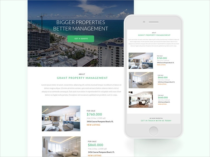 property newsletter design