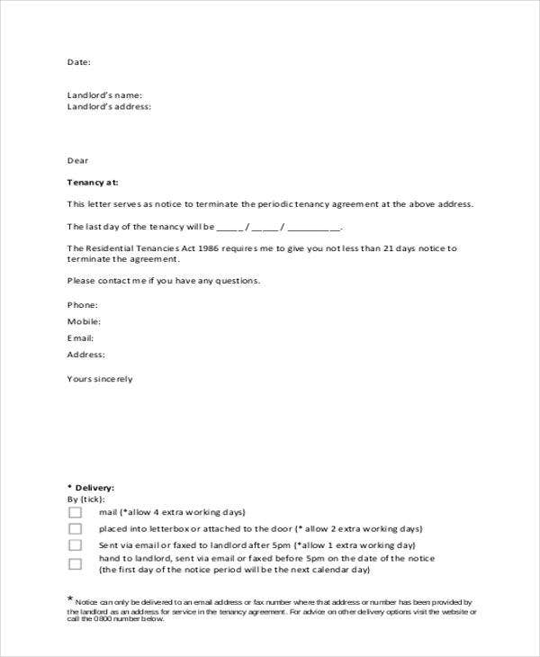 notice of tenancy termination letter template1