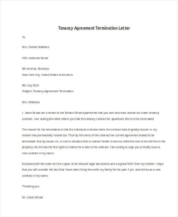 tenancy agreement termination letter3
