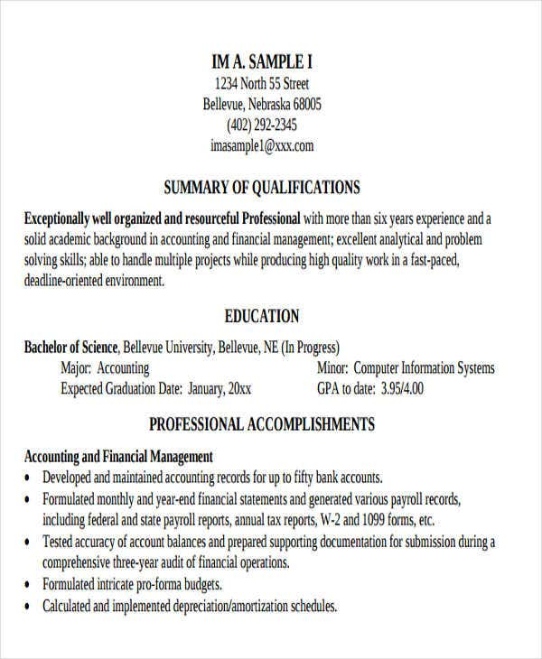professional business resume sample3