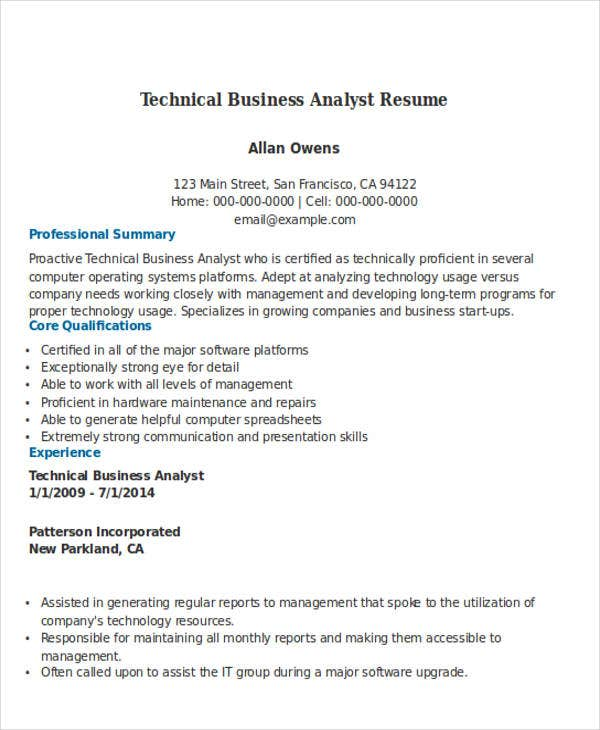 50 business resume exles free premium templates