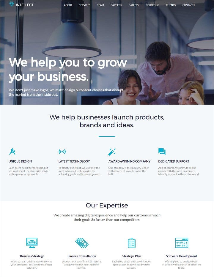 business html template11
