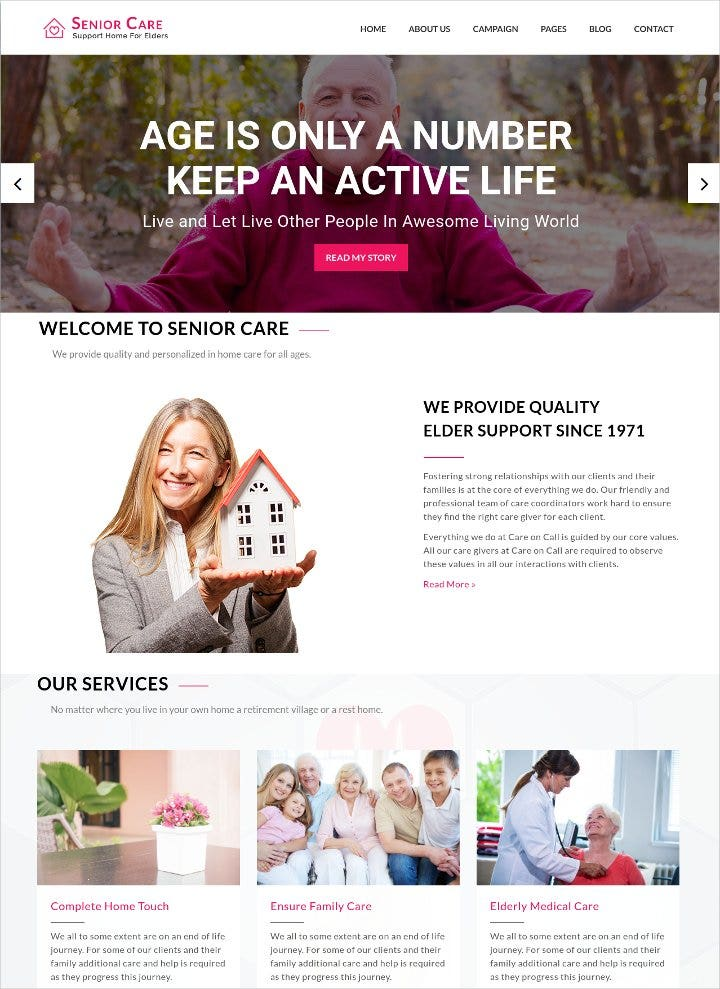 elderly care html5 template1