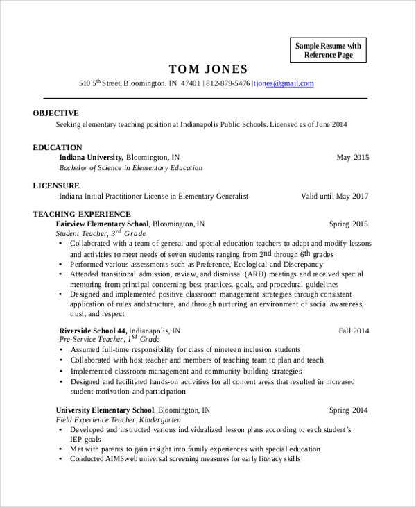 30 teacher resume templates download free premium templates