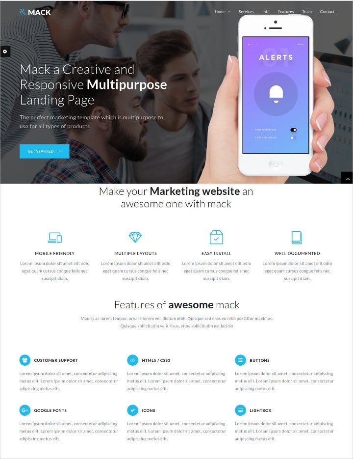 multipurpose landing page template1