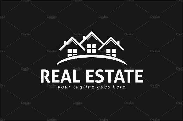 Flat Real Estate Logo