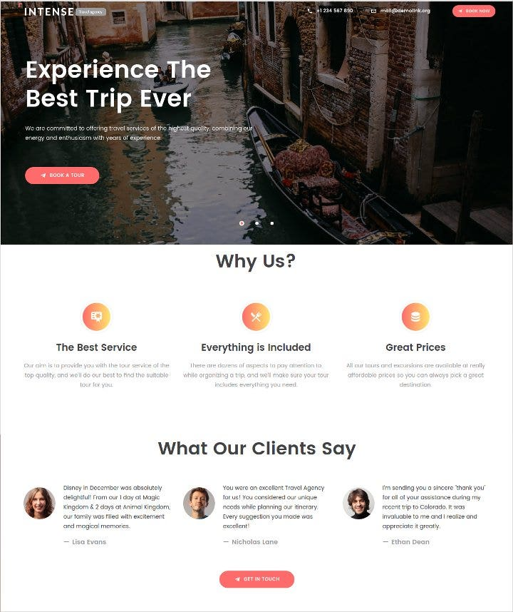 travel-agency-landing-page