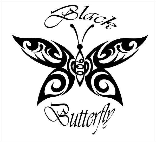 Tattoo Butterfly Logo