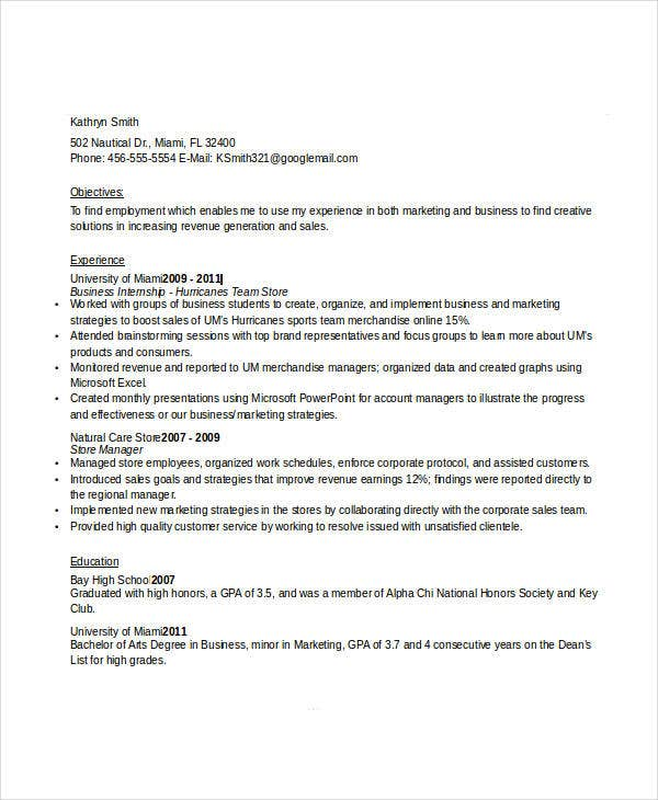 business executive resume sample3