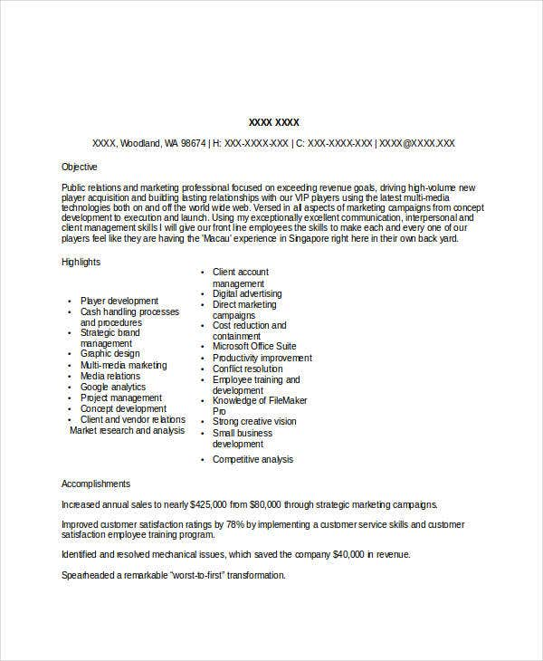 marketing executive assistant resume3