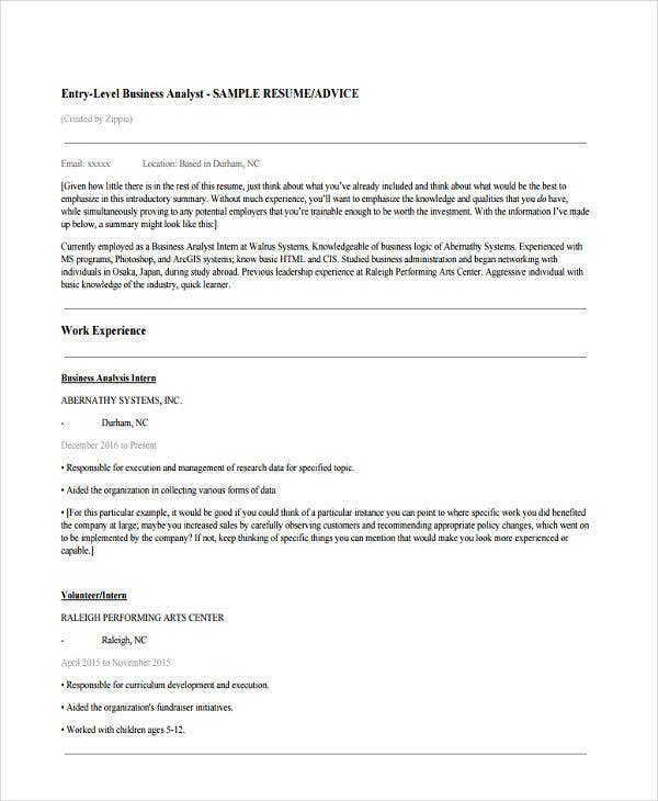 entry level it business analyst resume2