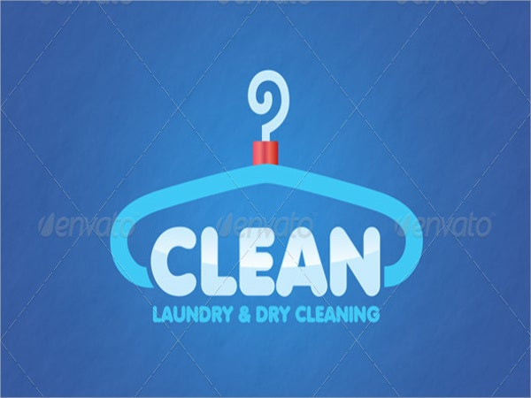 laundry washing service logo