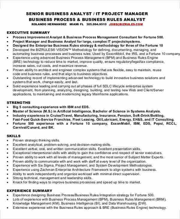 senior business analyst resume14