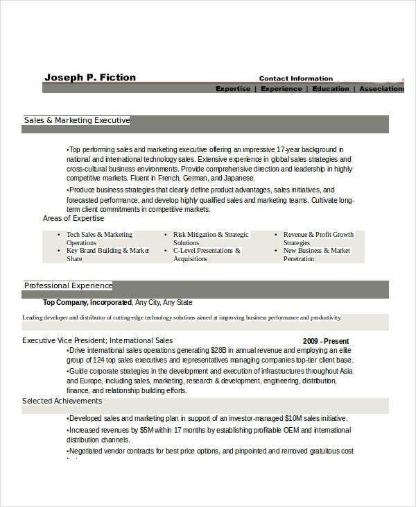 marketing sales executive resume3