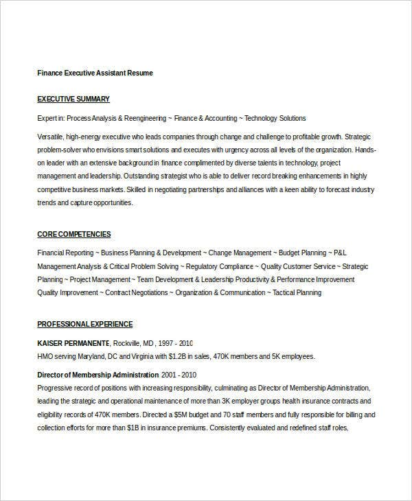 Finance executive resume 28 images resume sle 21 cfo finance 40 basic finance resume templates pdf doc free thecheapjerseys Choice Image