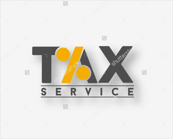abstract tax service logo