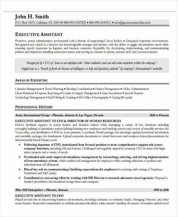 it executive assistant resume1