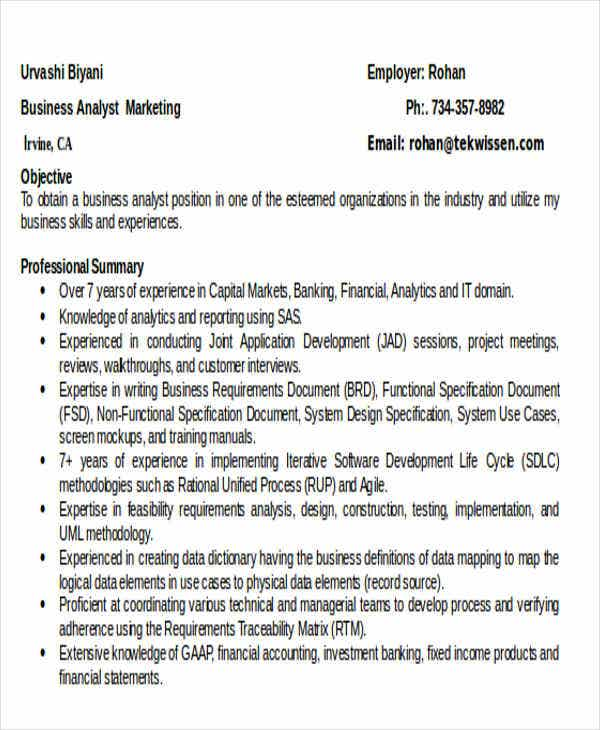 business analyst marketing resume1