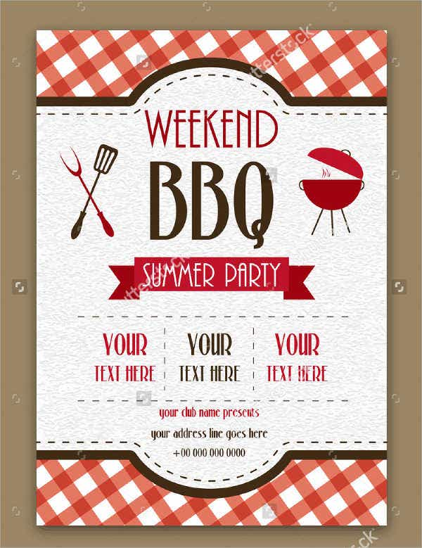 25 party menu psd free premium templates for What to serve at a bbq birthday party