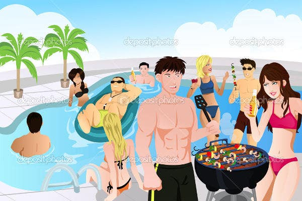 bbq-pool-party-menu