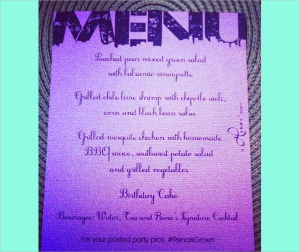 free-birthday-party-menu
