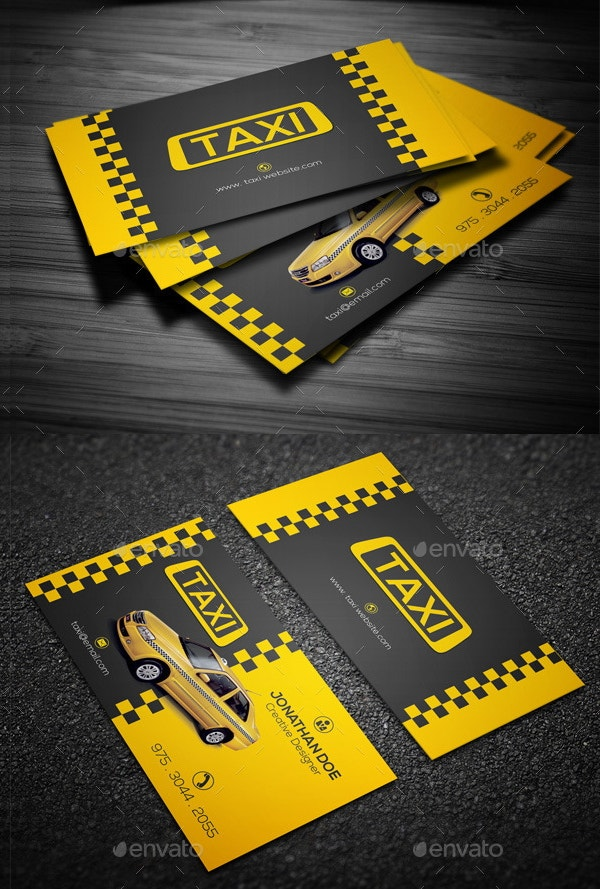 12 taxi business card templates free premium templates taxi company business card cheaphphosting Images